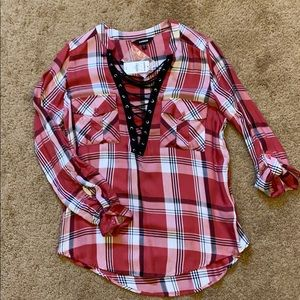 NWT Express lace up top